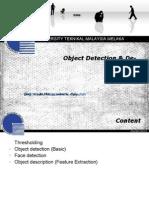 Object Detection & Description
