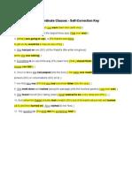 3.3.2 Main and Subordinate Clauses Self-CorrectionKey