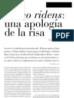 Apologia de La Risa. Ribero Weber