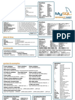 MySQL Quick Reference Sheet