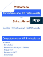 Competencies for Hr Professionals PDF