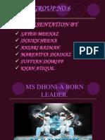 Ppt Ms Dhoni