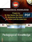 Pedagogical Knowledge