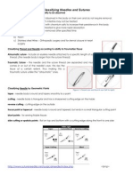 Classifying Needles and Sutures