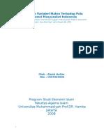 Pengaruh Variabel Makro Terhadap Pola Konsumsi Masyarakat Indonesia