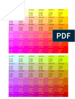 RGB Color Code Chart for html editing