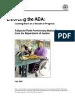 Enforcing the ADA Dept of Justice
