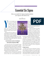 The Essential Six Sigma