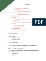 Cuprins Orientativ Proiect Managementul Vanzarilor