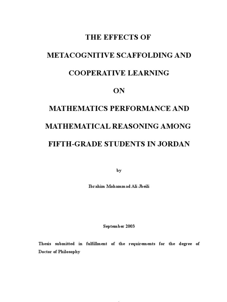 excellent thesis - metacognitive scaffolding and cooperative learning