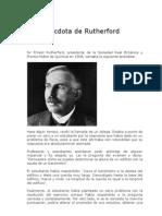 Una Anecdota de Rutherford
