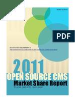 2011 Open Source CMS Market Share Report (excerpt)