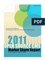 2011 Open Source CMS Market Share Report (excerpt)