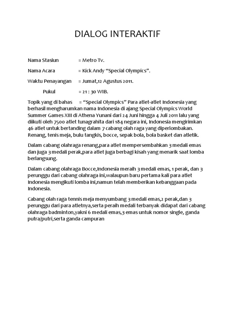 Contoh Dialog Interaktif Remaja Download Gambar Online Download