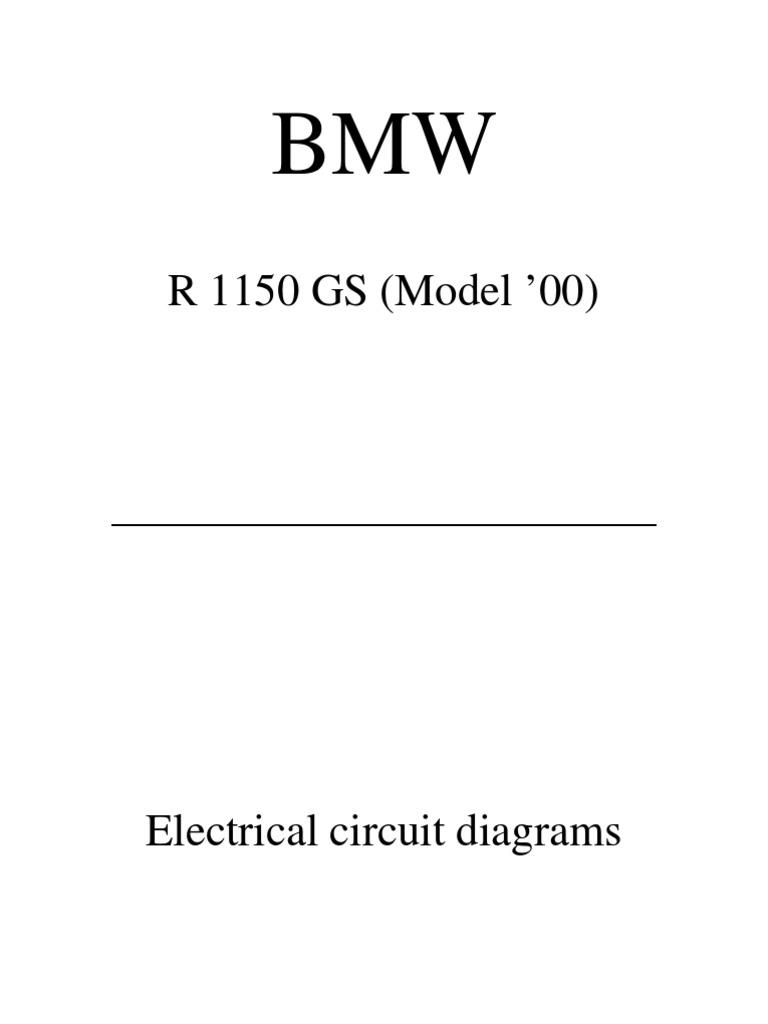 r1150gs wiring diagrams electrical connector ignition system rh es scribd  com bmw r 1150 rt wiring diagram 2003 BMW Trike