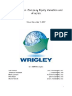 Wrigley Analysis