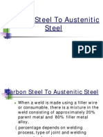 Welding Carbon Steel to Austenitic Steel
