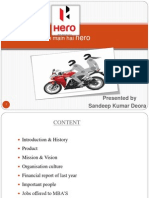 Hero Moto Corp power point presentation