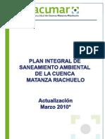 Plan Integral de to Ambiental de La Cuenca Matanza Riachuelo Marzo 2010