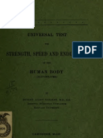 Universal Test for STRENGTH, SPEED and ENDURANCE of the Human Body,1902