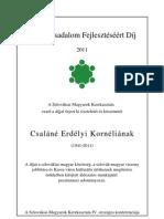 Civil díj - Emléklap - Csaláné Erdélyi Kornélia