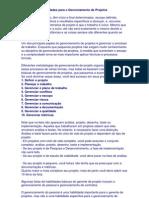 10 Principais des Para o Gerenciamento de Projetos