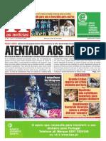 """Primeira Pagina """"As Noticias"""" Nº 46 de 24 Outubro 2008"""