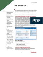 iSupplier Portal - Datasheet