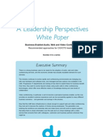 Du White Paper - Business-Enabled Audio, Web and Video Conferencing (Jun 2011)