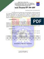 R. D. N° 014 - 2011