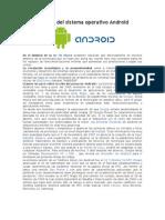 Historia Del Sistema Operativo Android