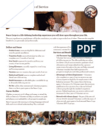 Peace Corps Benefits 2011