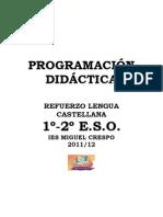 Programación del Refuerzo 11-12. 1º-2º ESO