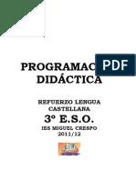 Programación del Refuerzo 11-12. 3º ESO
