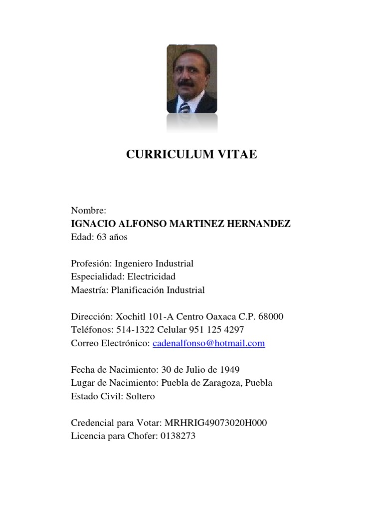 Curriculo Ing Alfonso