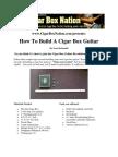 How to Build a Cigar Box Guitar