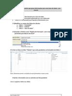 Como criar o ficheiro de gravação de dados da formação