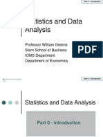 Statistics 0 Introduction