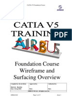 Airbus Catia V5 Wireframe and Surface