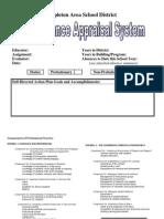 Appleton WI Evaluation Tool