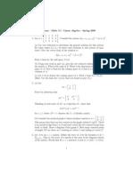 Louis H. Kauffman- Take Home Exam - Math 310 - Linear Algebra - Spring 2008