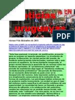 Noticias Uruguayas Viernes 9 de Diciembre de 2011
