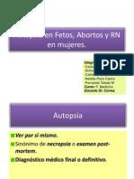 Autopsia en Recién Nacido feto aborto