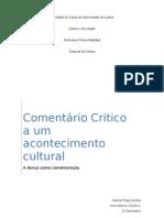 Comentário Critico a um acontecimento cultural (1º Ano)