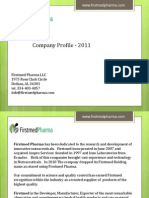 Company Profile Firstmed-2011 Rev1