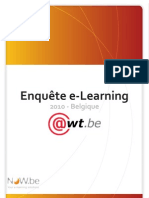 Enquête e-learning 2010 Belgique