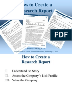 How to Create a Research Report