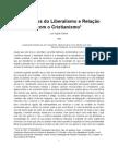 Primórdios do Liberalismo e Relação com o Cristianismo, Luís Aguiar Santos