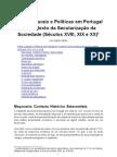Elites Culturais e Políticas em Portugal no Contexto da Secularização da Sociedade (Séculos XVIII, XIX e XX), por Luís Aguiar Santos