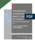 Ensayo. Arquitectura Latinoamericana